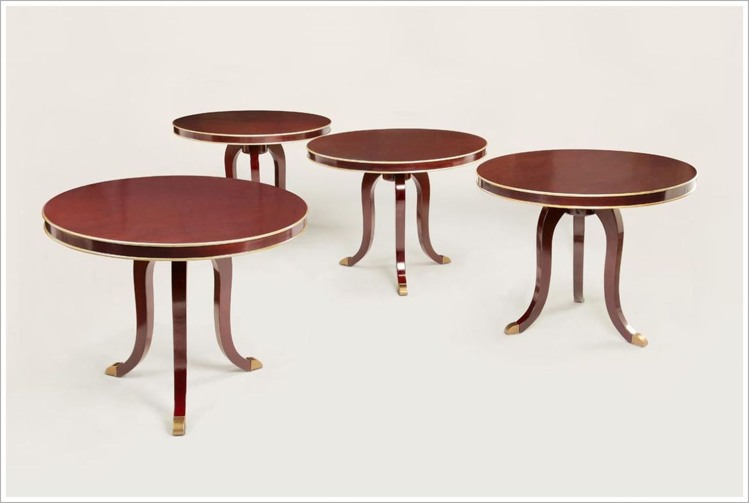 Custom Side Tables with Contoured Legs