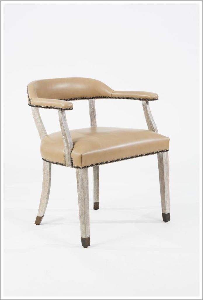 Custom Round Back Hospitality Armchair with Metal Foot Caps