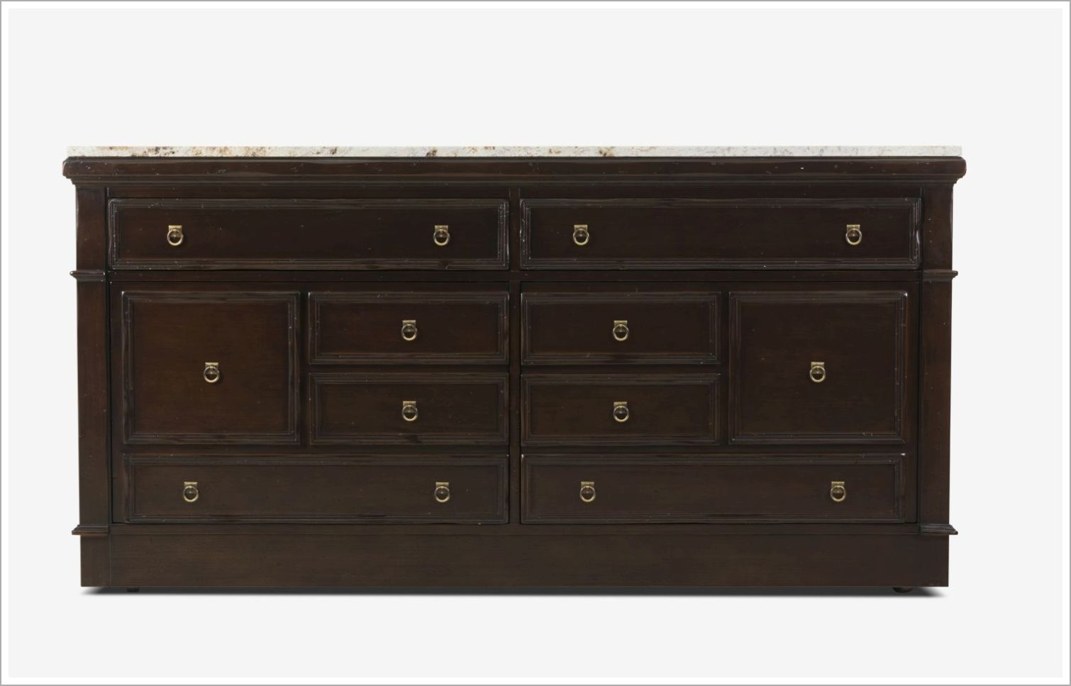 Hospitality Sideboard with Concealed Casters and Distressed Finish