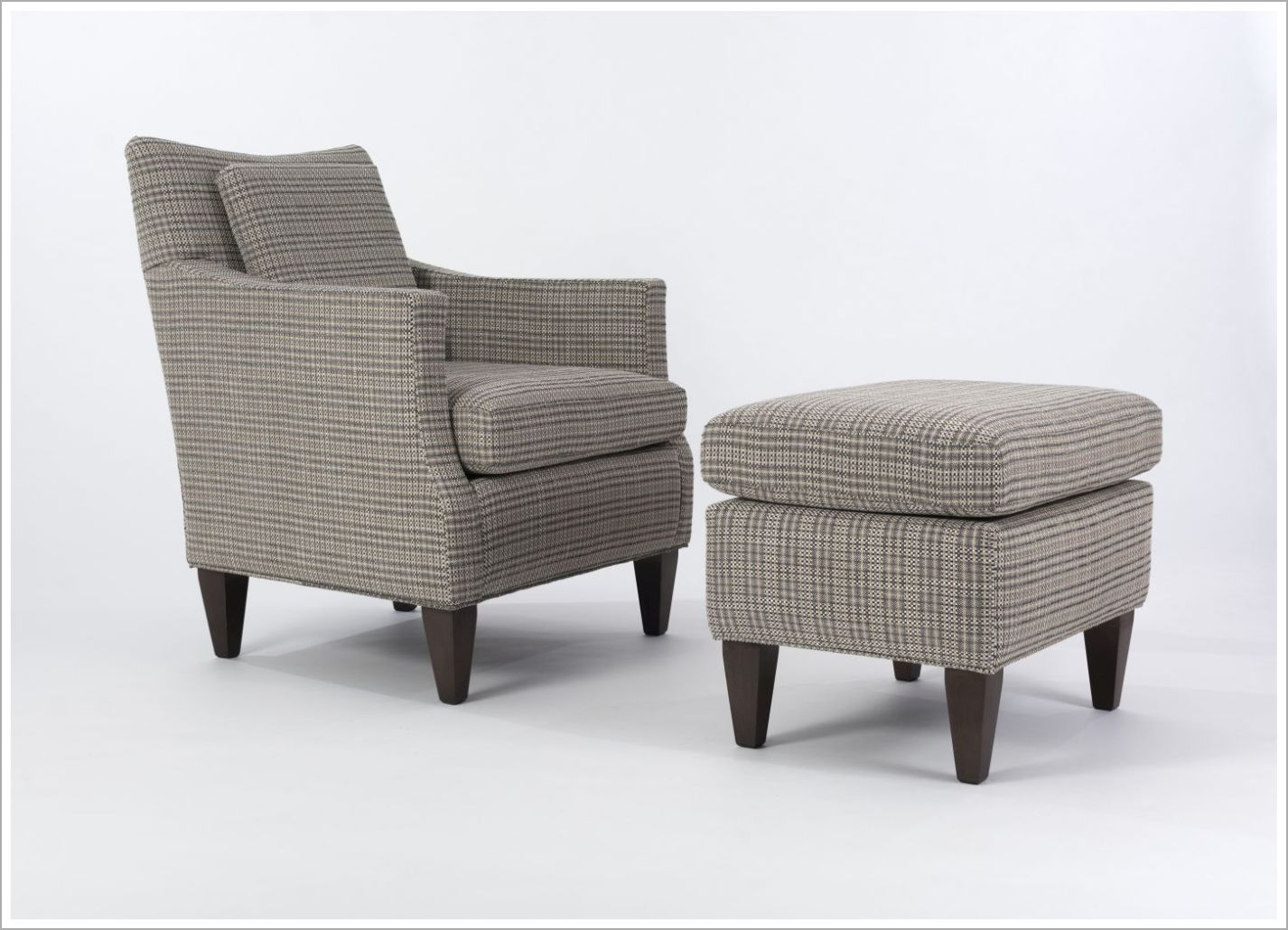 Custom Hotel Room Upholstered Chair and Ottoman