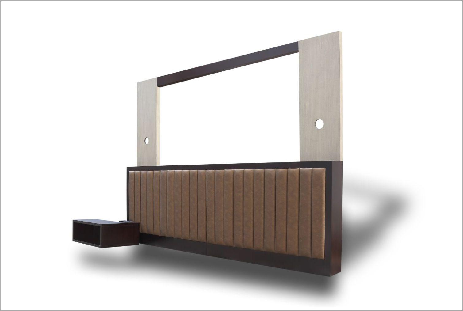 Modular Hotel Headboard with Nightstand