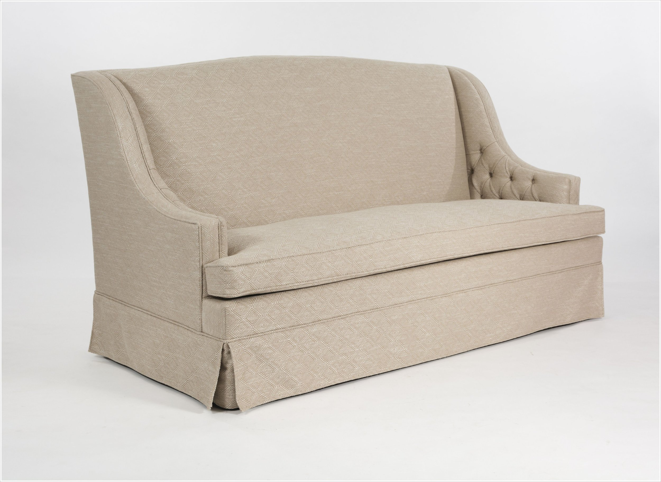Custom Upholstered Sofa with Tufted Arms