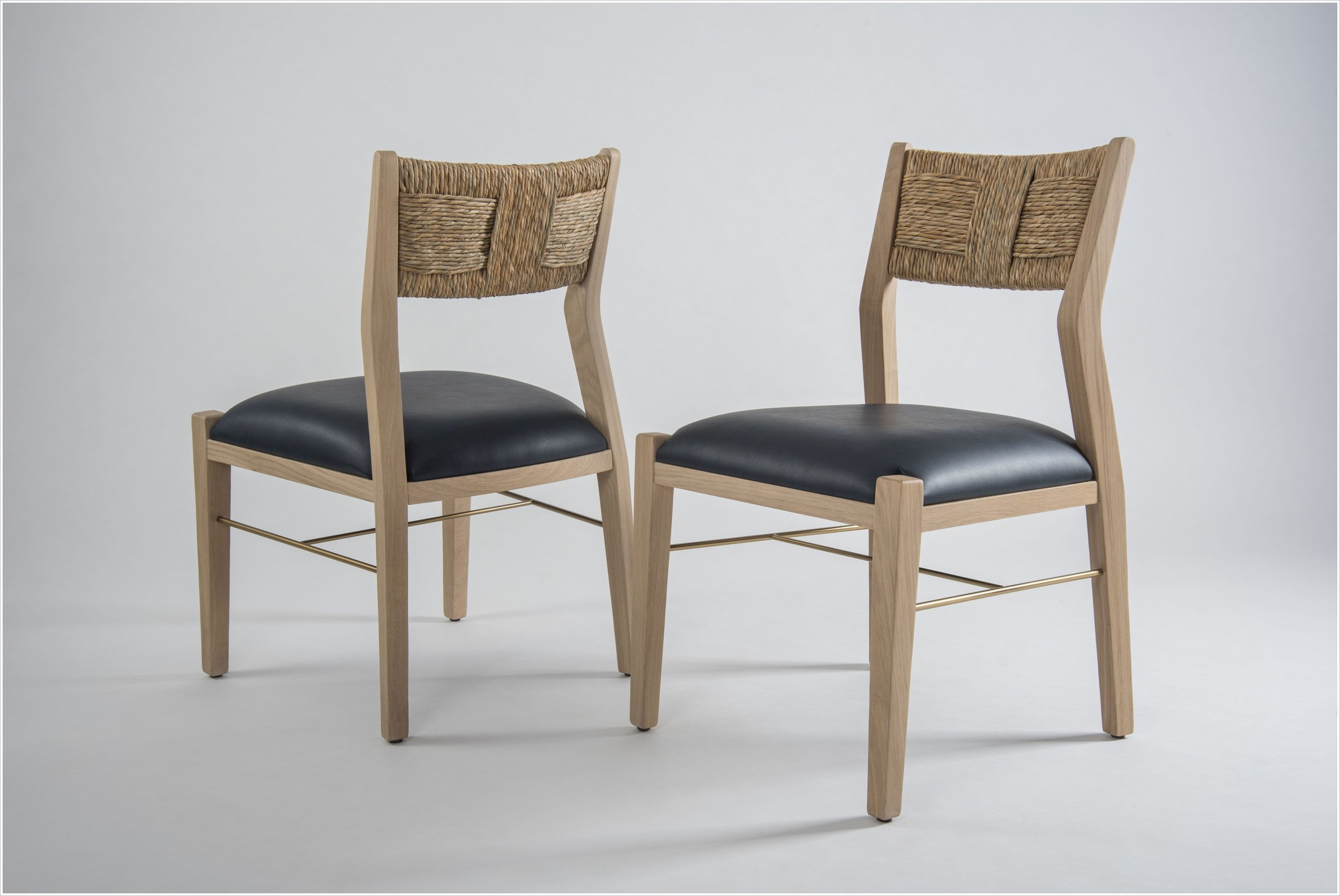 SC196 - Dining Chair with Woven Seat Back