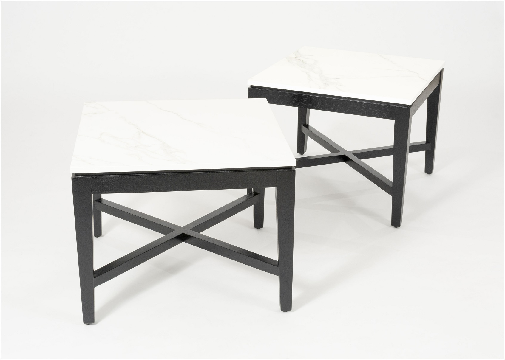 Custom Side Tables with Stone Tops