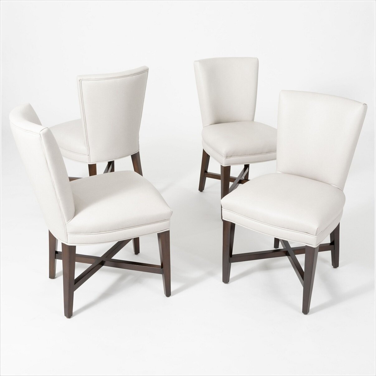 Custom Dining Chairs with X Stretchers