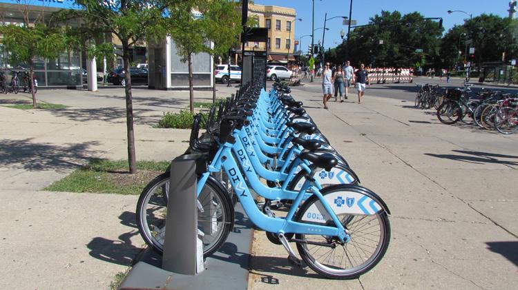 Logan Square Divvy Bike Station