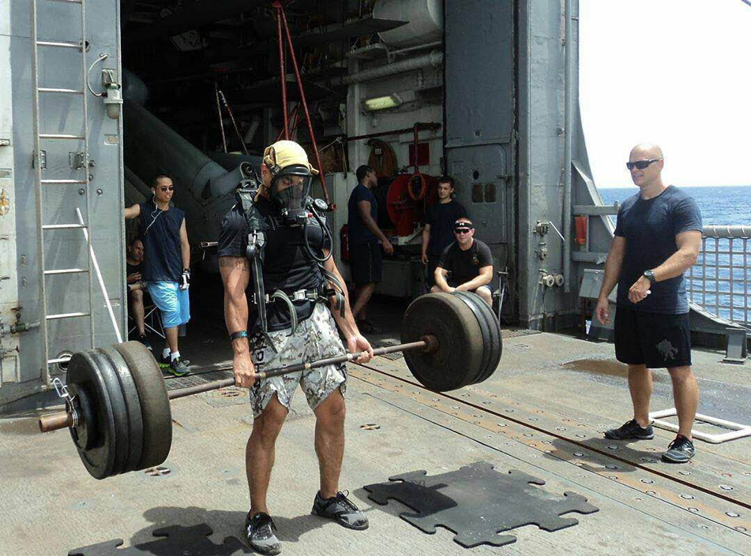 Fired up: @powerliftinggoals on Instagram showing 555 Fitness's WOD in action.