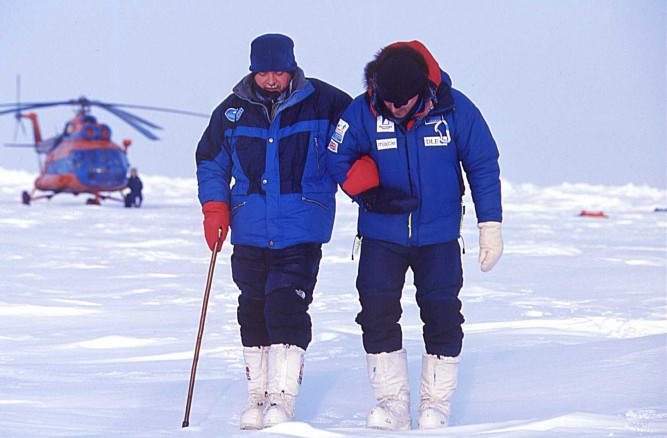 McGrath was able to walk the final leg of the North Pole expedition