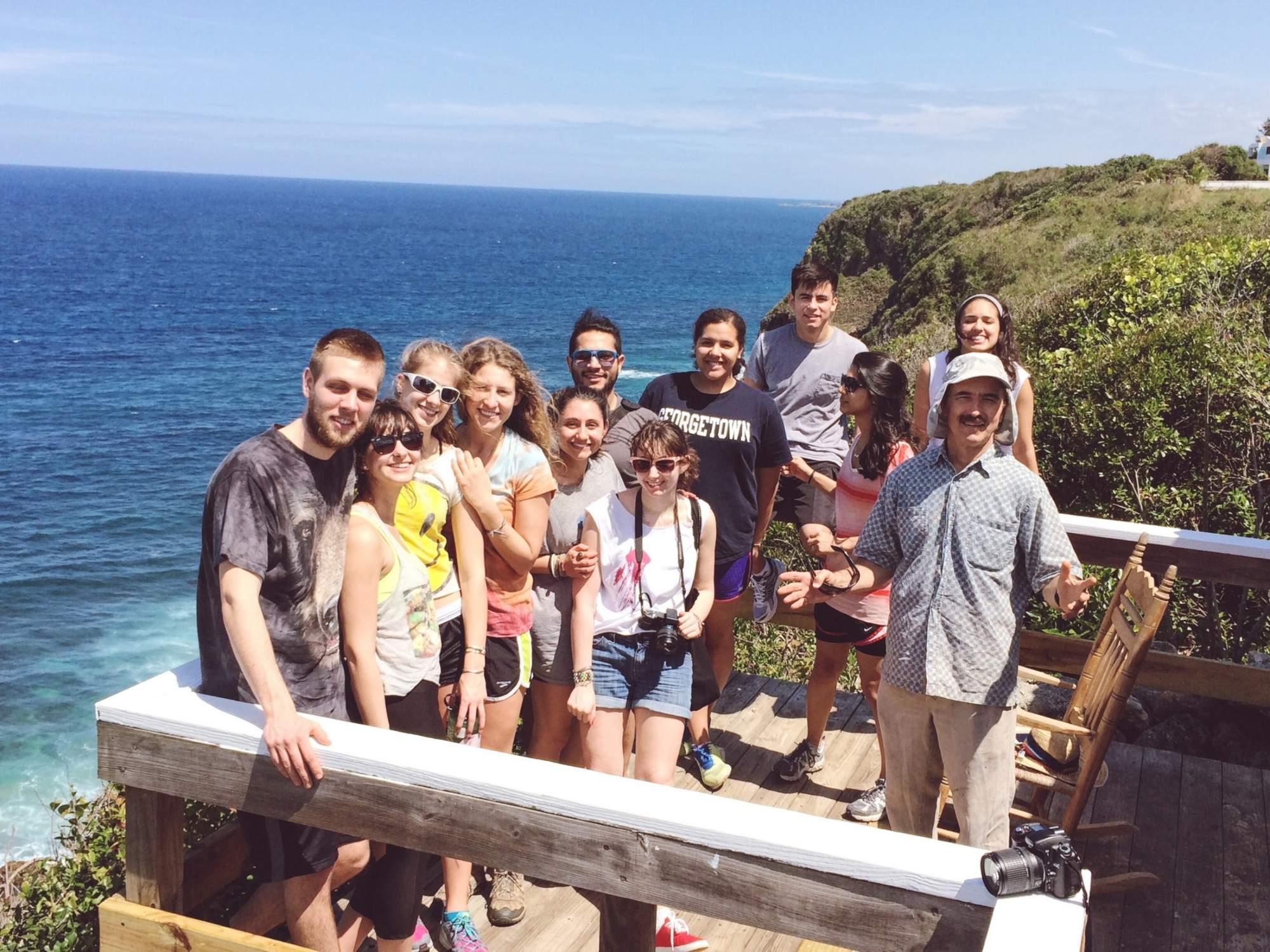 Georgetown University and Skidmore College Students on the cliff's of Puerto Rico