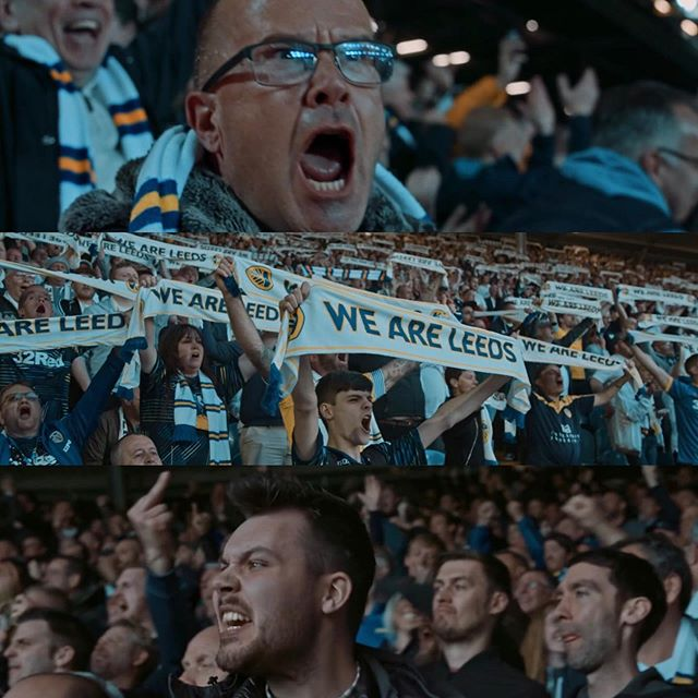 //TAKE US HOME : LEEDS UNITED// Available on @primevideosport now.  Here's a few screenshots from the matches I had the pleasure of filming, as part of the talented filmmaking team at @thecitytalking , capturing one of the most turbulent seasons in Leeds United's recent history. Getting among the fans in the Kop, South Stand and Elland Road really showed me just how much this club means to the fans, the city and everyone involved with @leedsunited. The joy was all mine. Big love to all involved. #MOT #ALAW