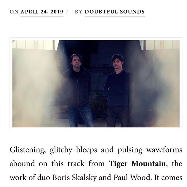 "Thanks to @doubtfulsounds for their write up of our new EP: ""Glistening, glitchy bleeps and pulsing waveforms abound"" #ambientelectro #glitch #edm #analog #synth #moog #arturia #newyork #newmusic"