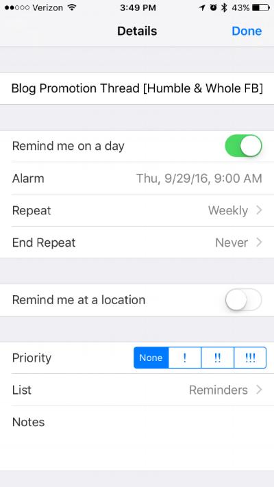 Reminders IOS App