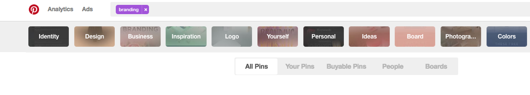 Finding Keywords on Pinterest