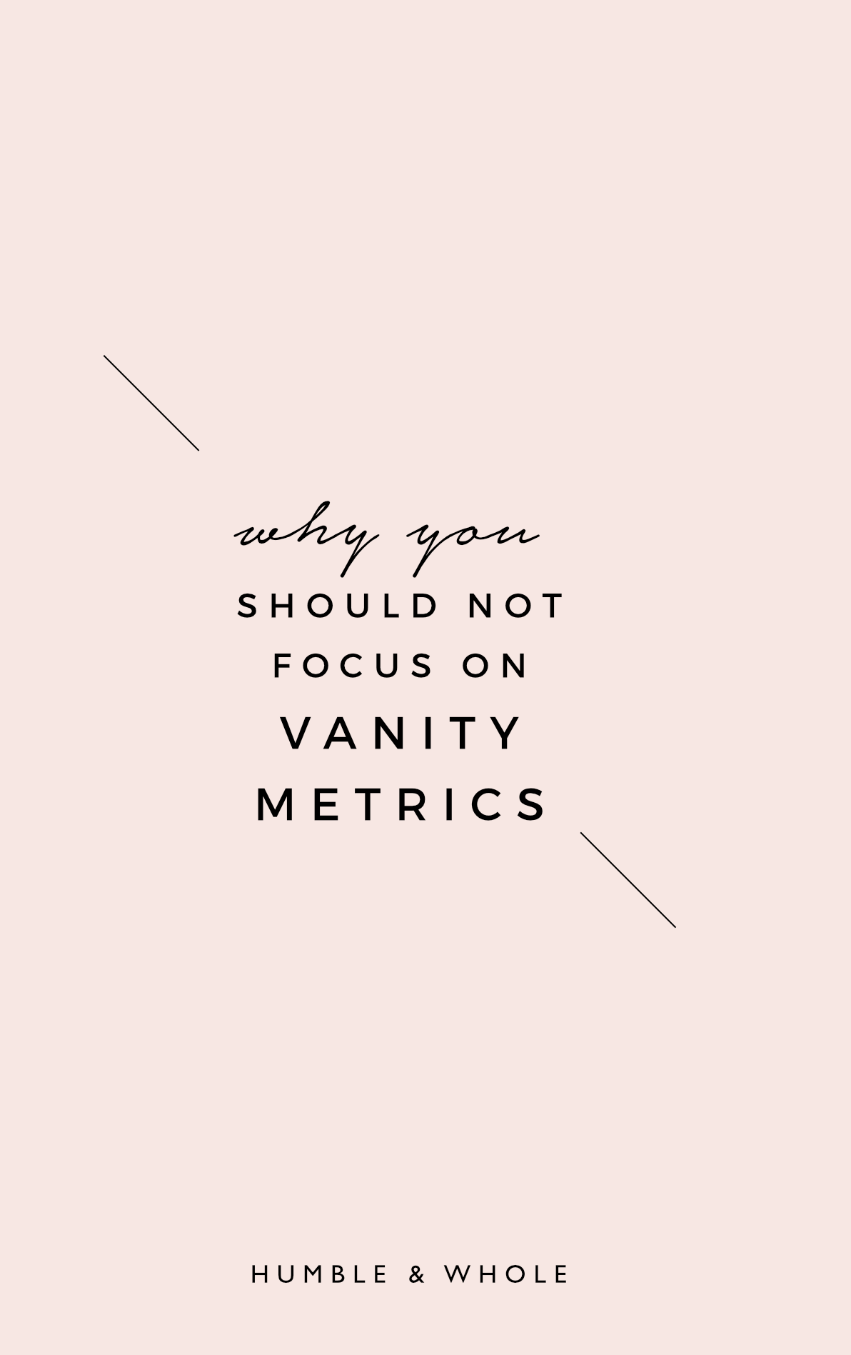 Are you a blogger or creative entrepreneur who can't get enough of checking your analytics? Do you find yourself frequently checking your page views, your mailing list subscribers, and your following across your social media? You don't want to miss our latest post on the blog, in which we're discussing why you shouldn't be obsessing over vanity metrics, and what you should pay attention to instead to develop a successful brand.