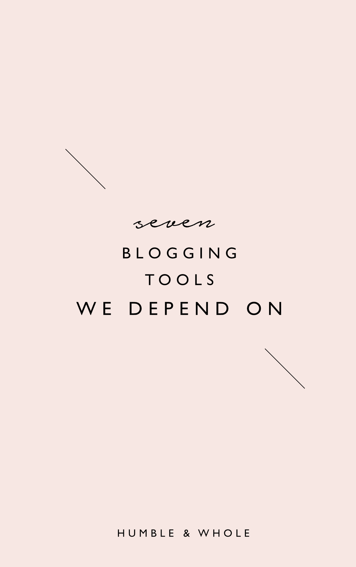 The blogging tools that you decide to use can make all the difference between having a blog with organized systems and an increase in productivity, or constantly battling overwhelm and confusion. Click through to check out the 7 blogging tools that have made a huge difference in the way we run our blog.