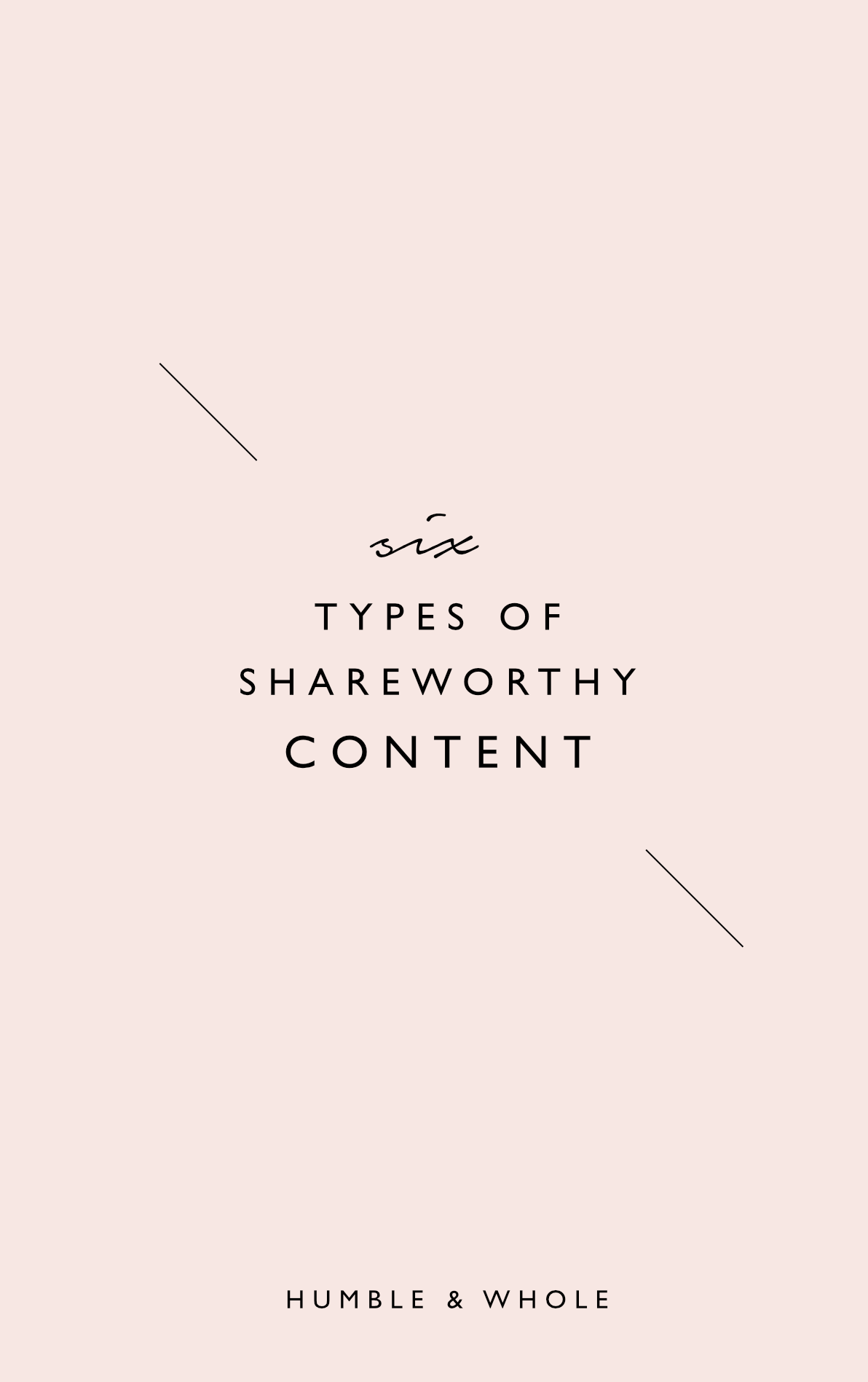 Are you struggling with figuring out the types of content that would be best suited for your audience? If so, then you don't want to miss this post! Click through to discover the six types of share worthy content that you can begin creating for your audience today!