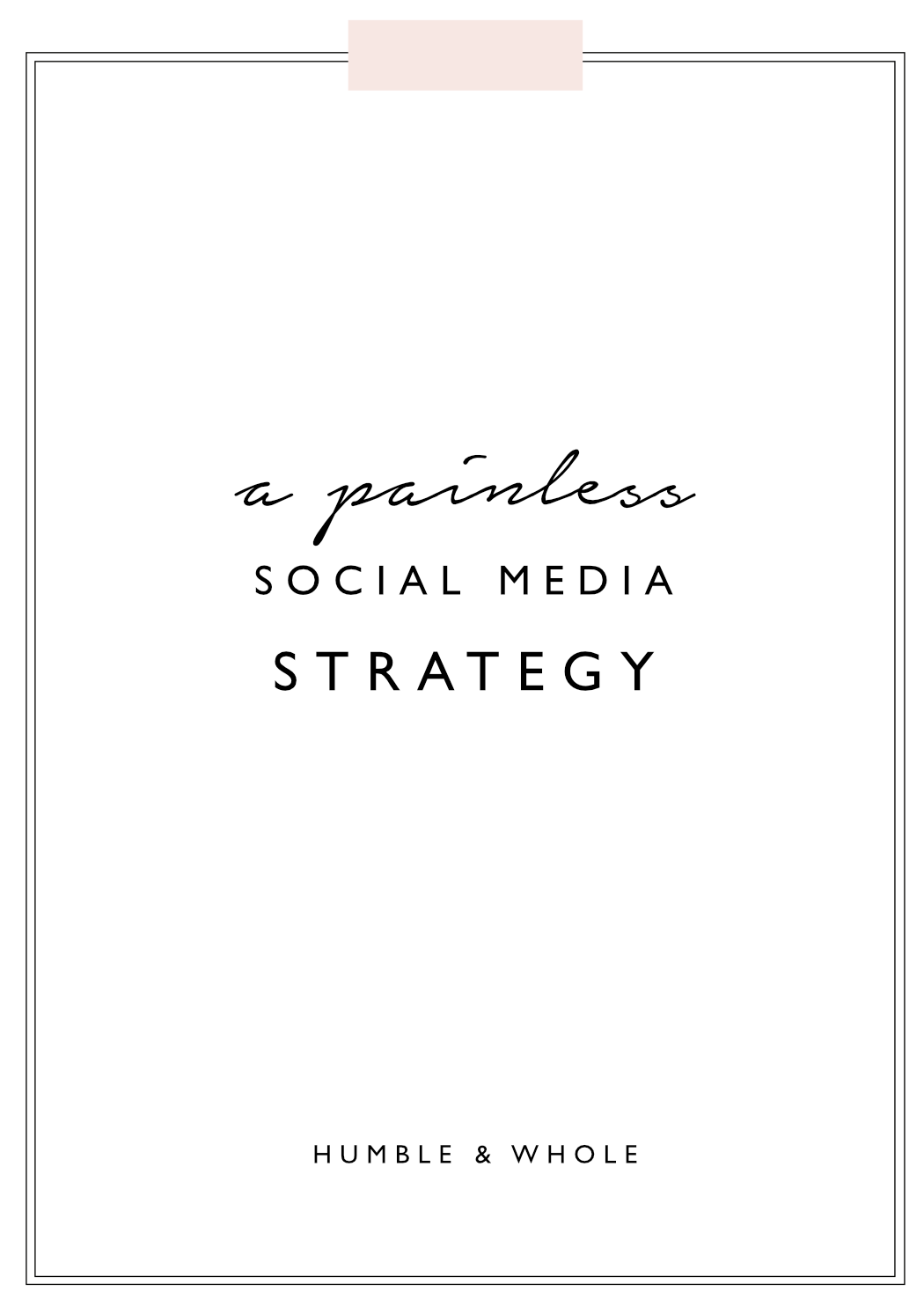 Is your blog's social media presence stressing you out? Developing an effective social media strategy for your blog doesn't have to be difficult. Click through to discover easy ways to narrow down the social media platforms you actually need and how to build an audience!