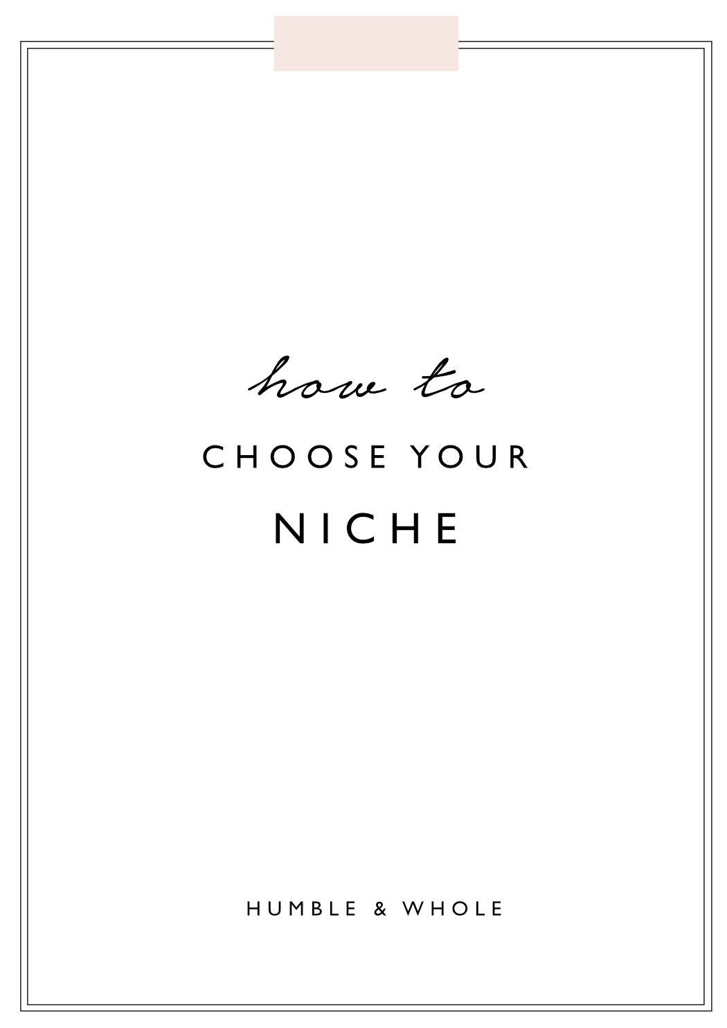 Want to start a blog, but wondering what exactly to blog about? In this post, you'll learn how to wisely choose the perfect blogging niche for you and select your target audience. Click through to find your niche today!