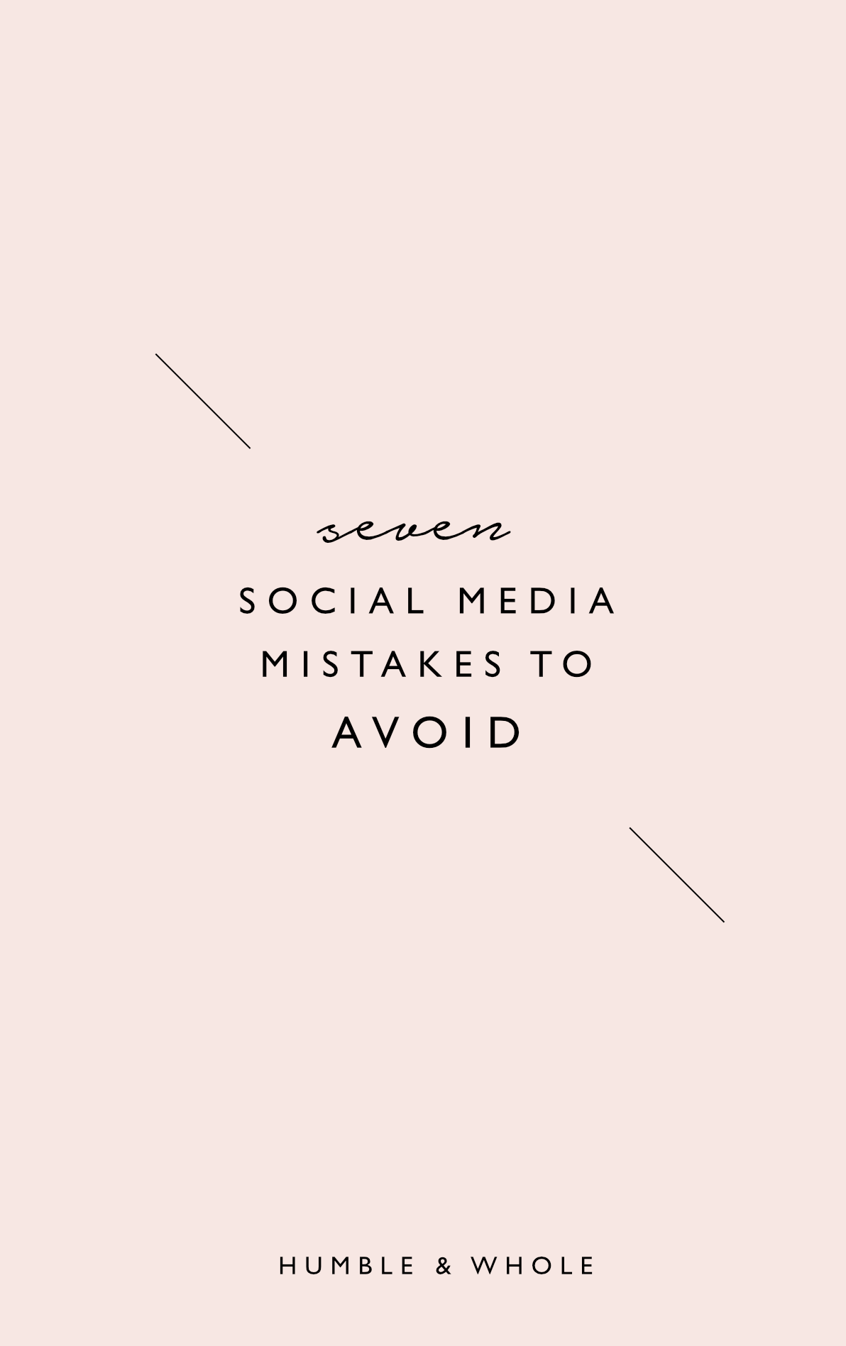 If you're a blogger or business owner, you understand the importance of building a presence on social media. There are definitely some practices that could thwart your efforts to grow your following and get the most out of your social media. Click through to check out seven social media mistakes you should avoid making.
