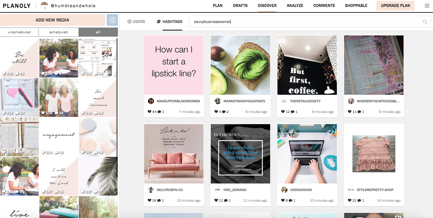Planoly Curated Instagram Feed