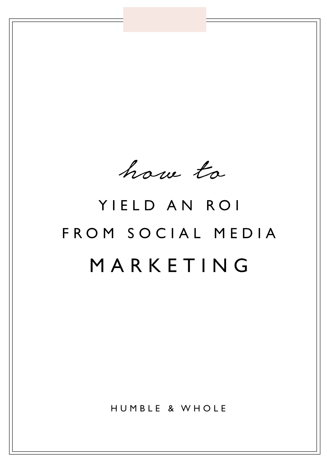 Social media marketing is one of the most valuable ways to promote yourself as an online entrepreneur. Are you getting a return on investment with your social media presence? Social media can absolutely help you meet your business goals, but if you're struggling to reach them, it's time to audit your social presence.