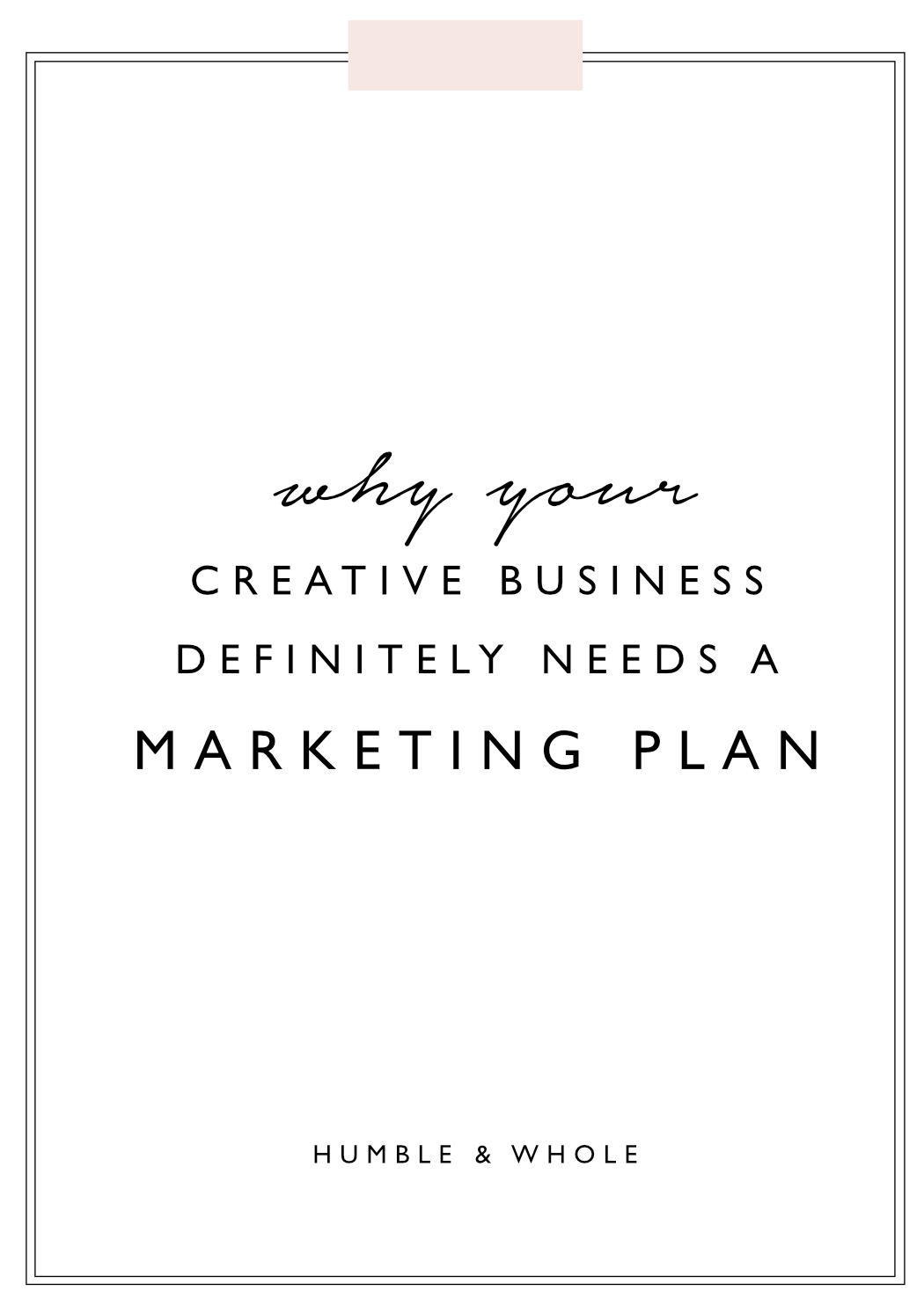 Successful businesses are not accidents.  Developing a marketing plan for your business has the power to bring your largest dreams to life.  Good marketing requires a plan that is intentional and strategic.  Click through to discover 5 reasons why your business absolutely needs a marketing plan.