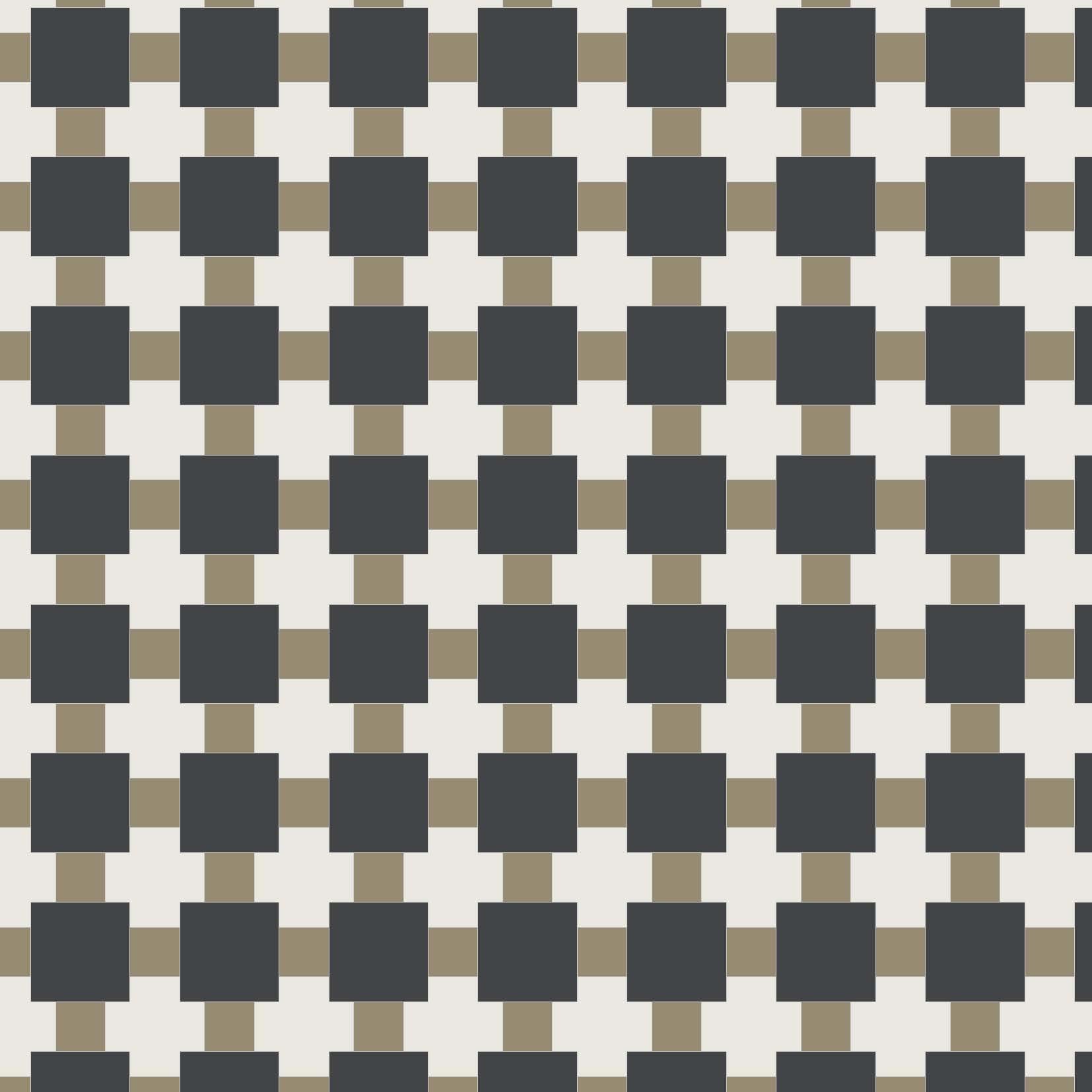 Textile - Black, Gold, White