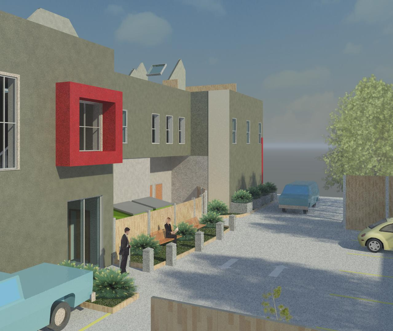 Lakeshore Commercial Space with 2nd Floor Residential Apartments Rear.jpg