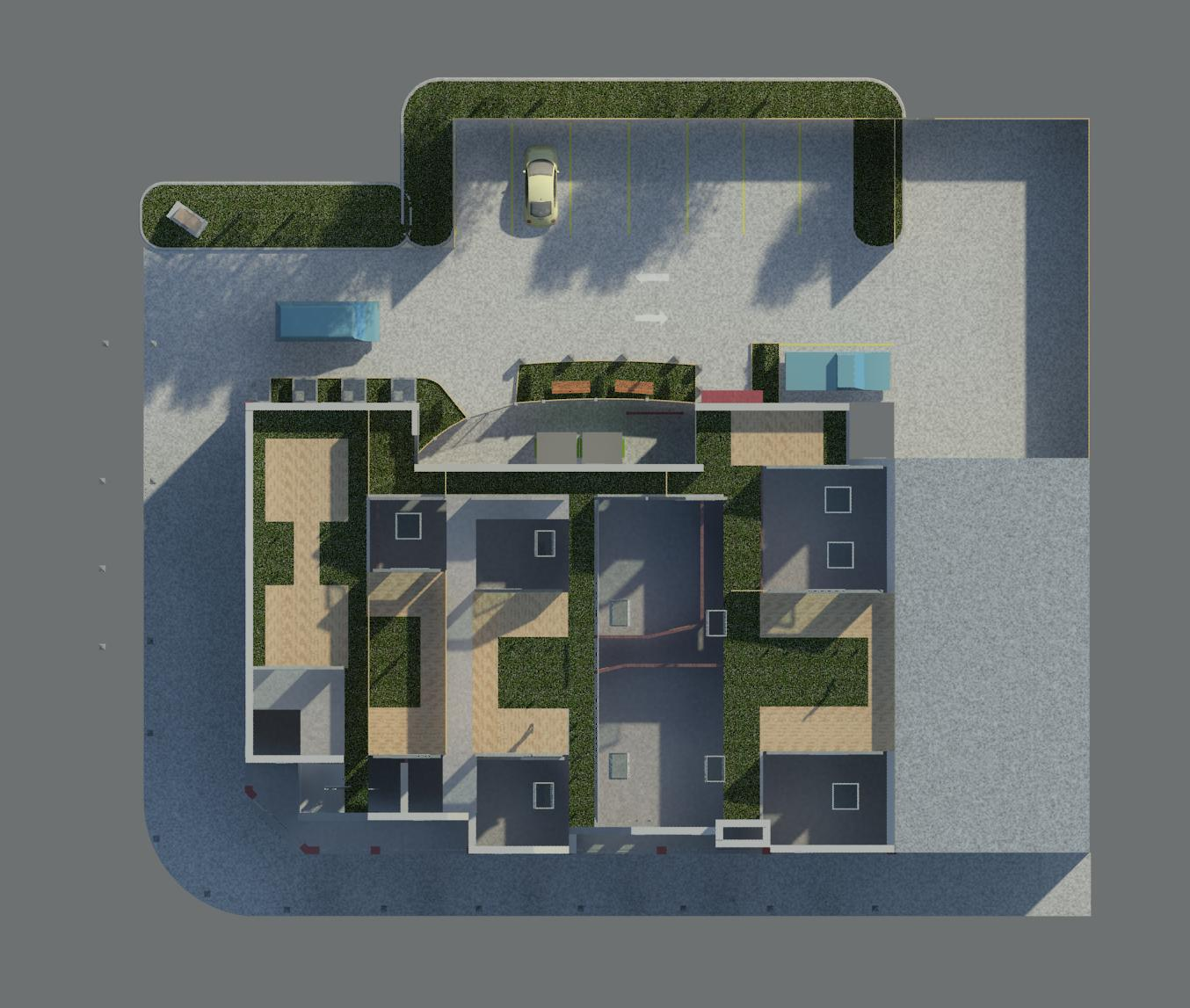 Lakeshore Commercial Space with 2nd Floor Residential Apartments Green Roof.jpg