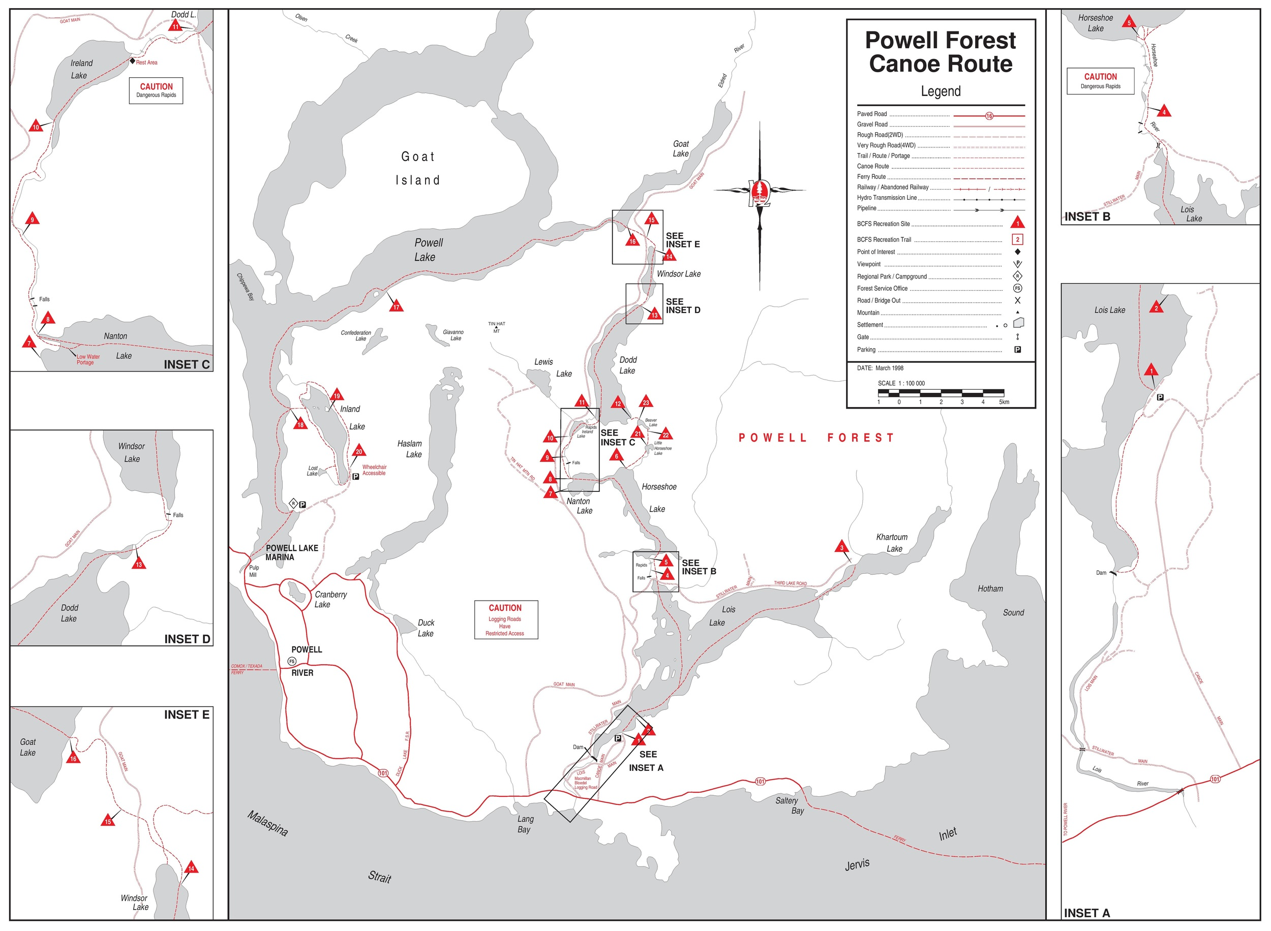 Ministry of Forests Recreation Map