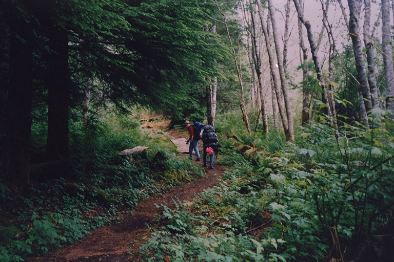 Backpacking a portage trail