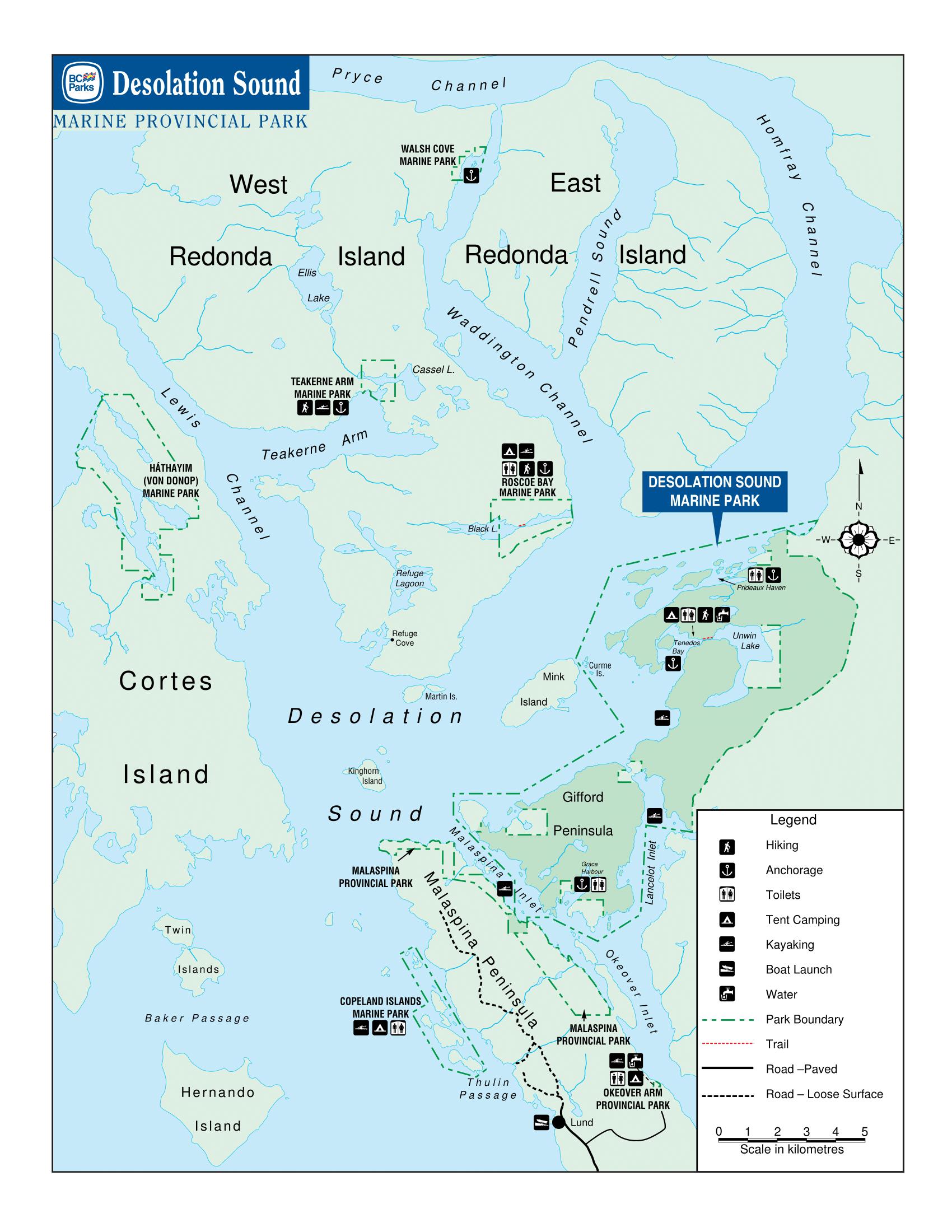 Desolation Sound Map