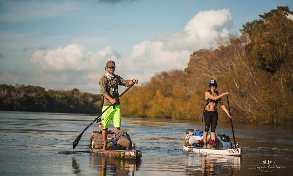 "Gabriel Gray and Jessica Cichra begin their  adventure down the Apalachicola River . Photo: Desirée Gardner   ""To describe the feeling of the first 10 seconds on the water, with a week away from civilization while paddling into the wilderness is impossible; it's like a gut twisting endorphin rush with a feeling of overwhelming calmness in your brain.""  Gabriel Gray"
