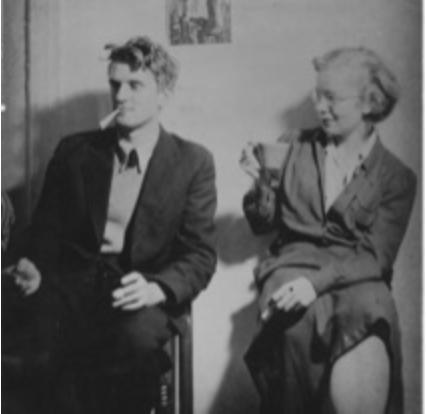 WITH VIRGINIA ADMIRAL, circa 1940