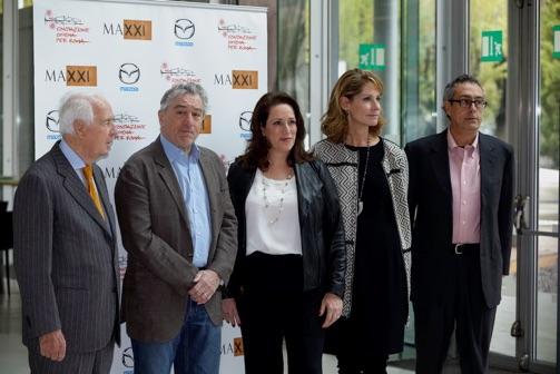 Robert De Niro, Megan Fox Kelly, Perri Peltz, at 2014 Rome Film Festival   Photograph: Matteo Nardone