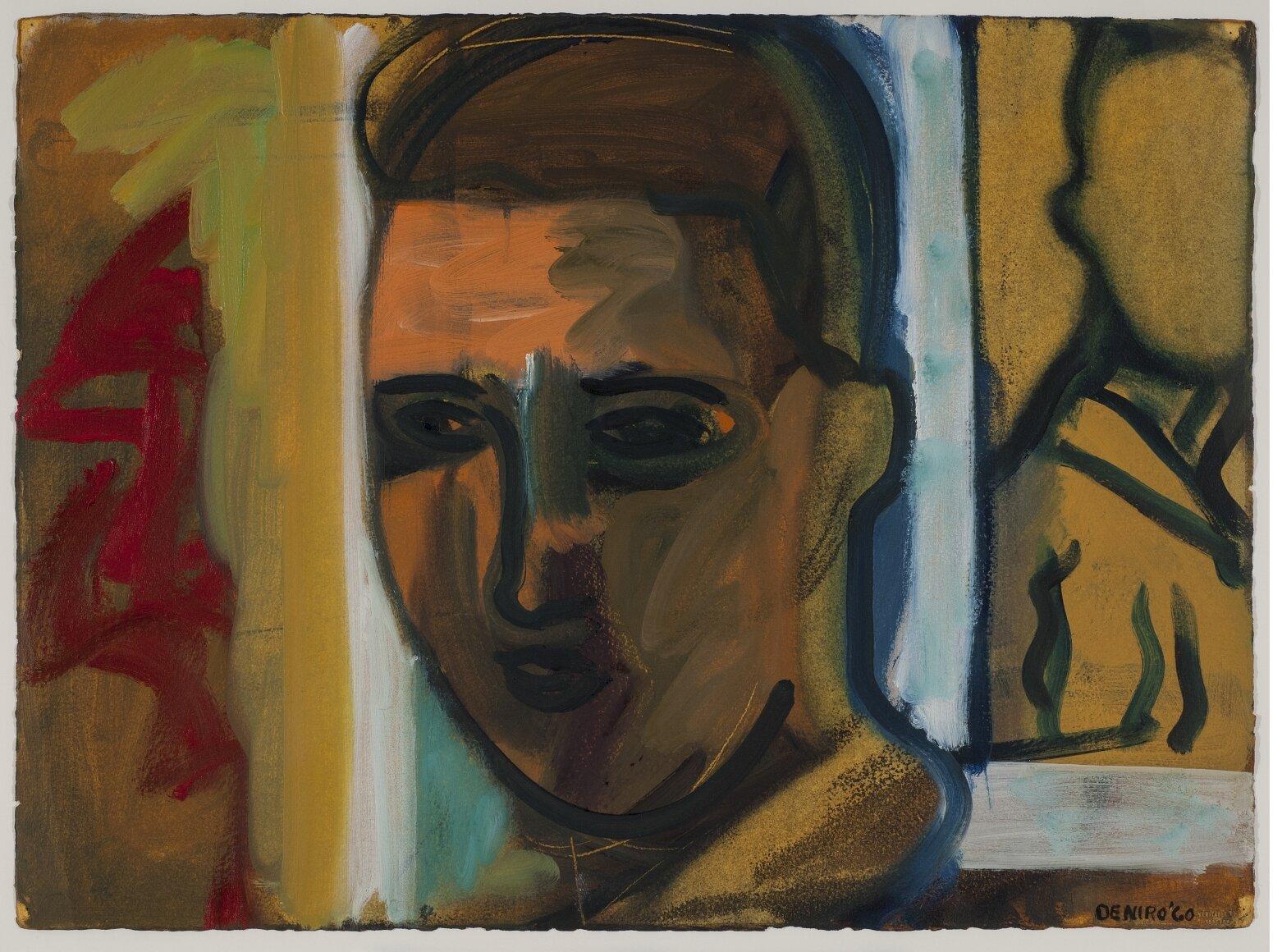 Self Portrait , 1960, Oil on paper, 22 1/4 x 30 1/4 inches
