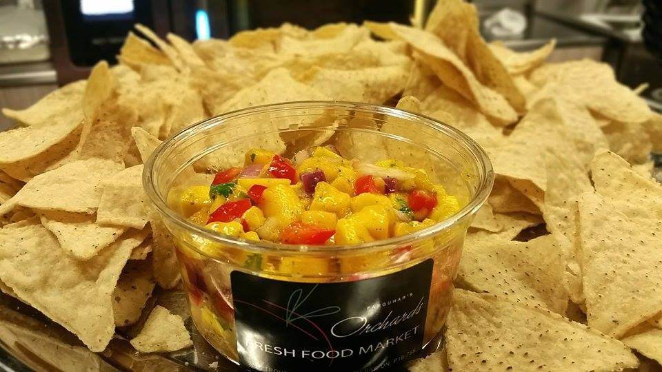 Orchards Signature Mango Salsa   Made with fresh mango, cilantro and onions... Just add chips!
