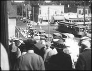 Fans Exiting Nicollet Ball Park, 1946.   Photo courtesy of the Minnesota Historical Society.
