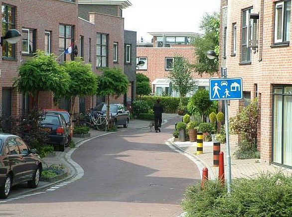 Example of a shared street