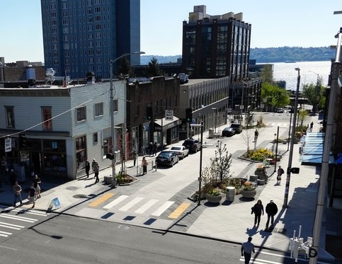 Shared street in Seattle, Washington SvR Designs