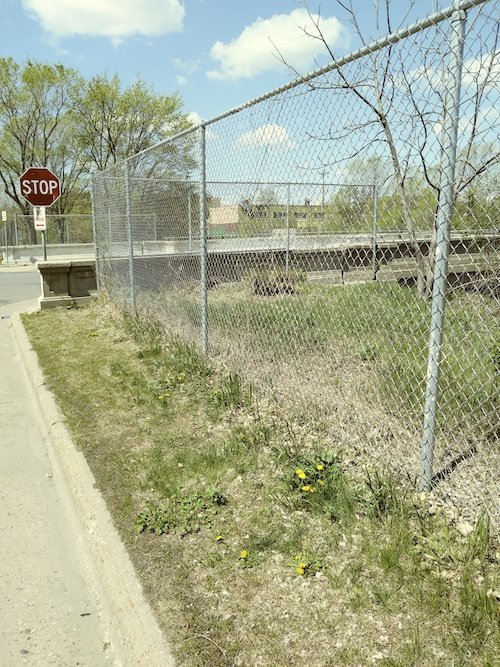 Existing fence along 29th Street