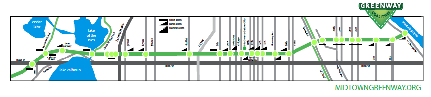 Old Midtown Greenway map on the Midtown Greenway Coalition's website
