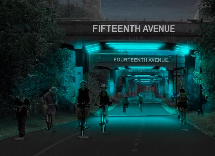 Bridge Concept Night Lighting by Neighborhood