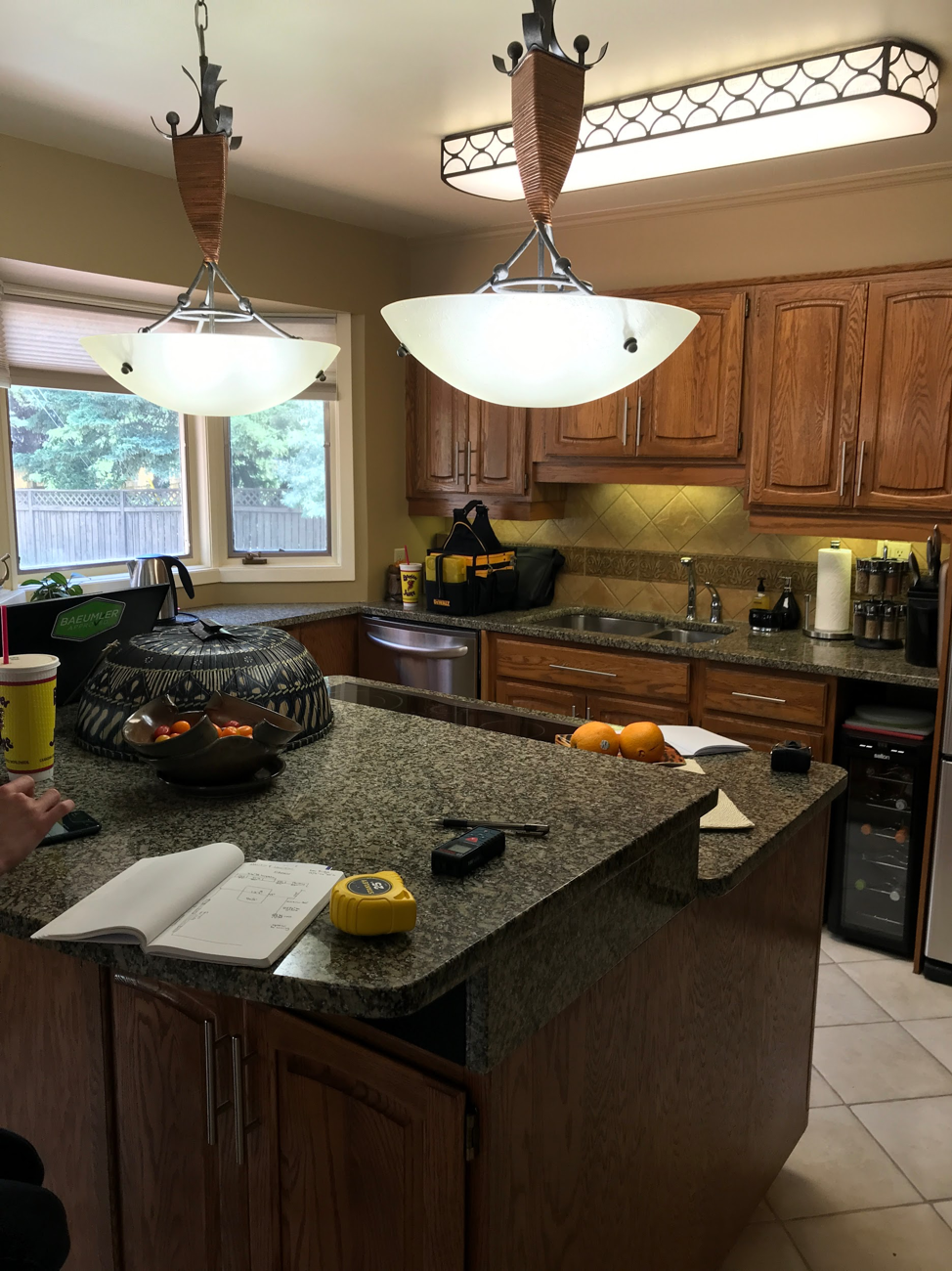 This dark and dated kitchen needed help - To stay on budget all while staying fresh and Modern, IKEA + Kitch was the answer.