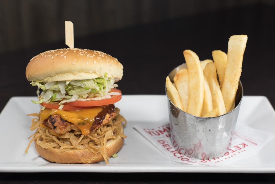 Whisky River BBQ Chicken Burger
