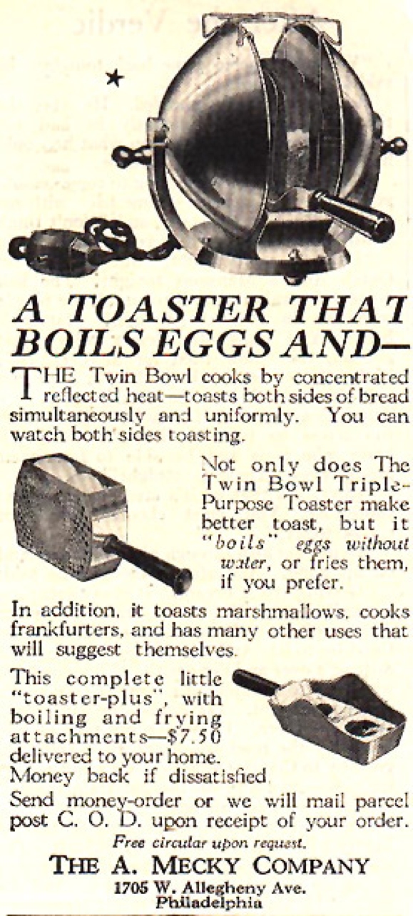 "'Twin Bowl Triple Purpose Toaster"" Ad"