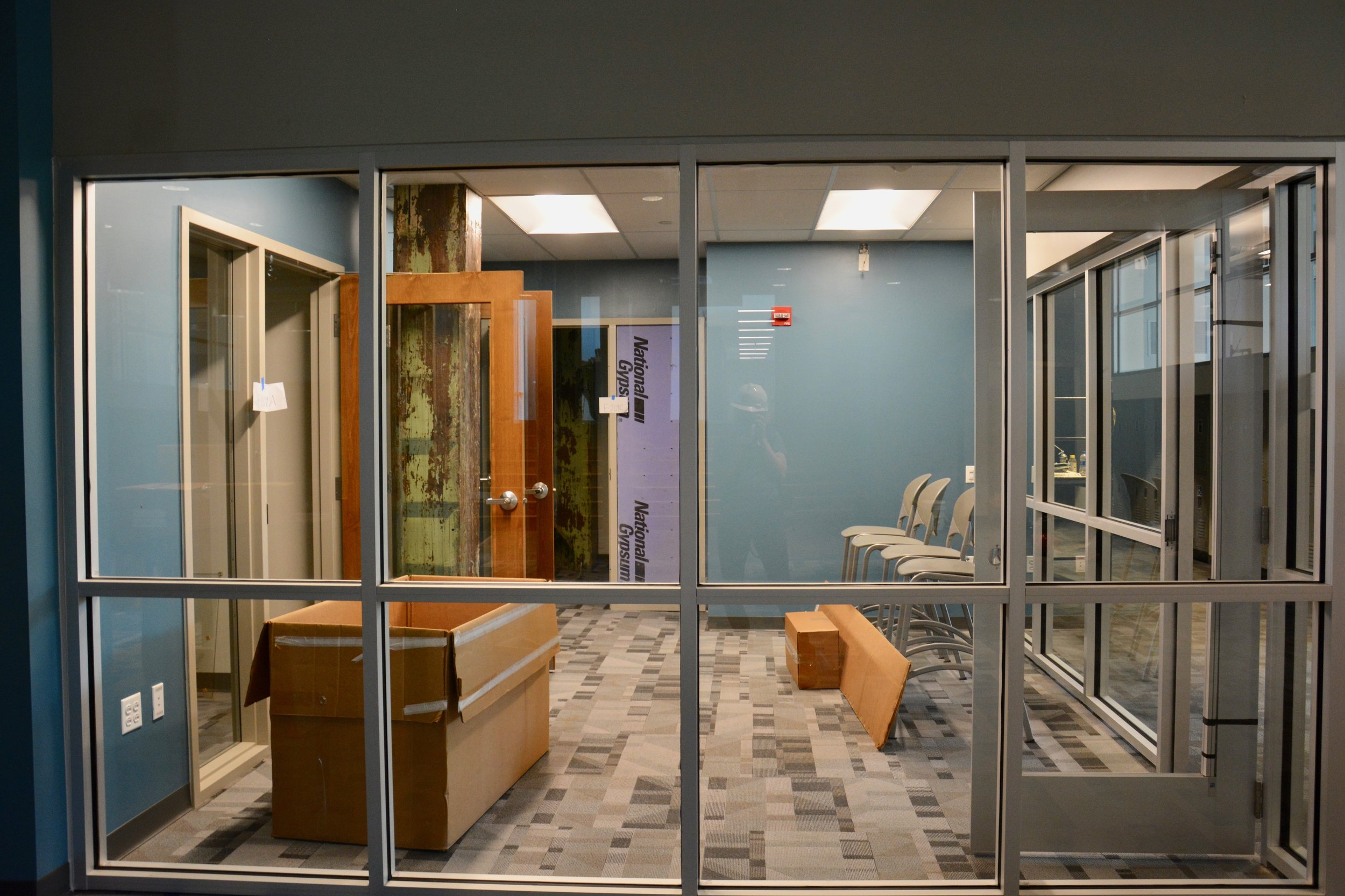 College Counseling Office and meeting space, which will feature a laptop bar.