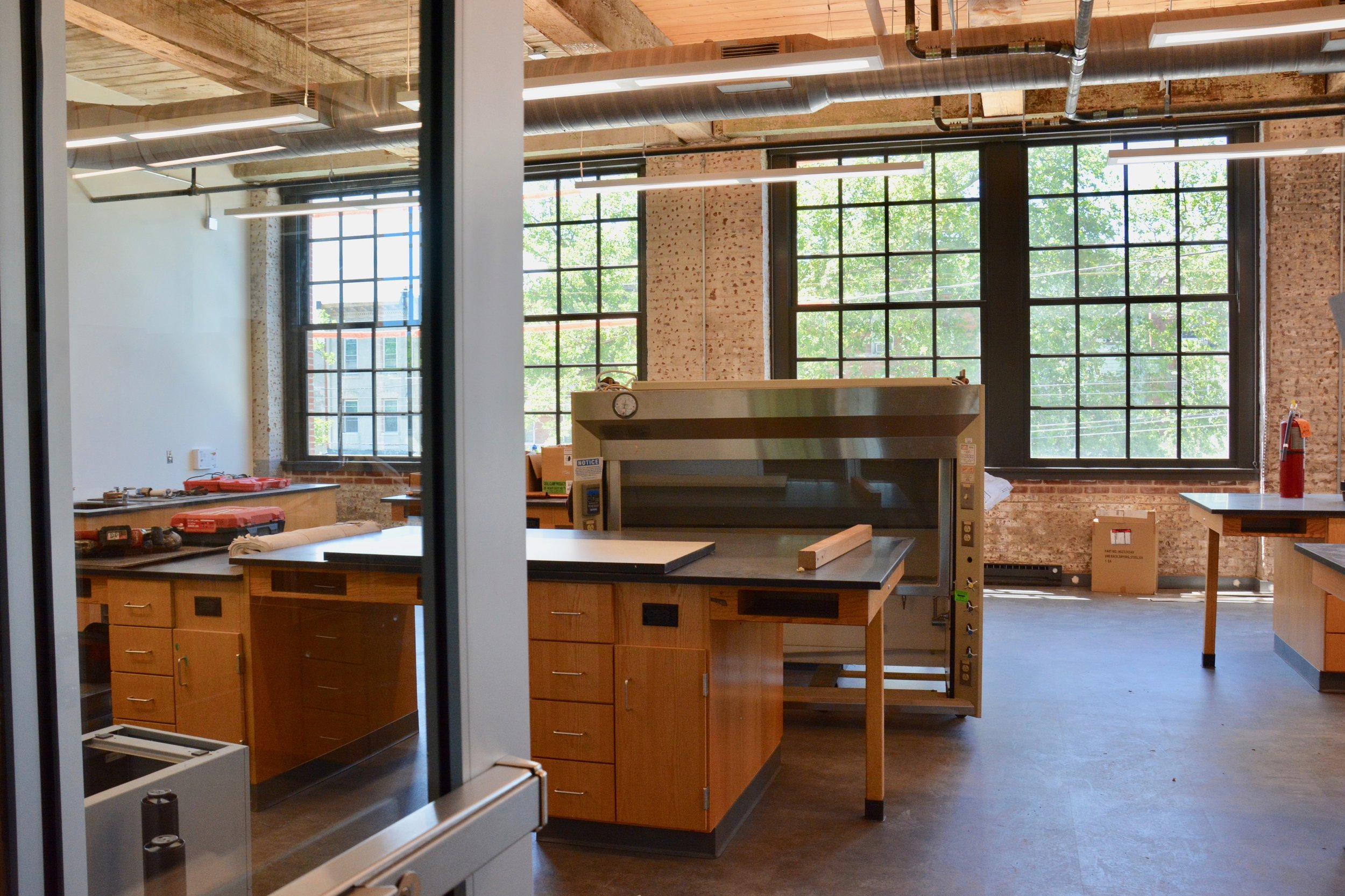 Chemistry Lab in the factory, which will have lab tables and lecture style seating.