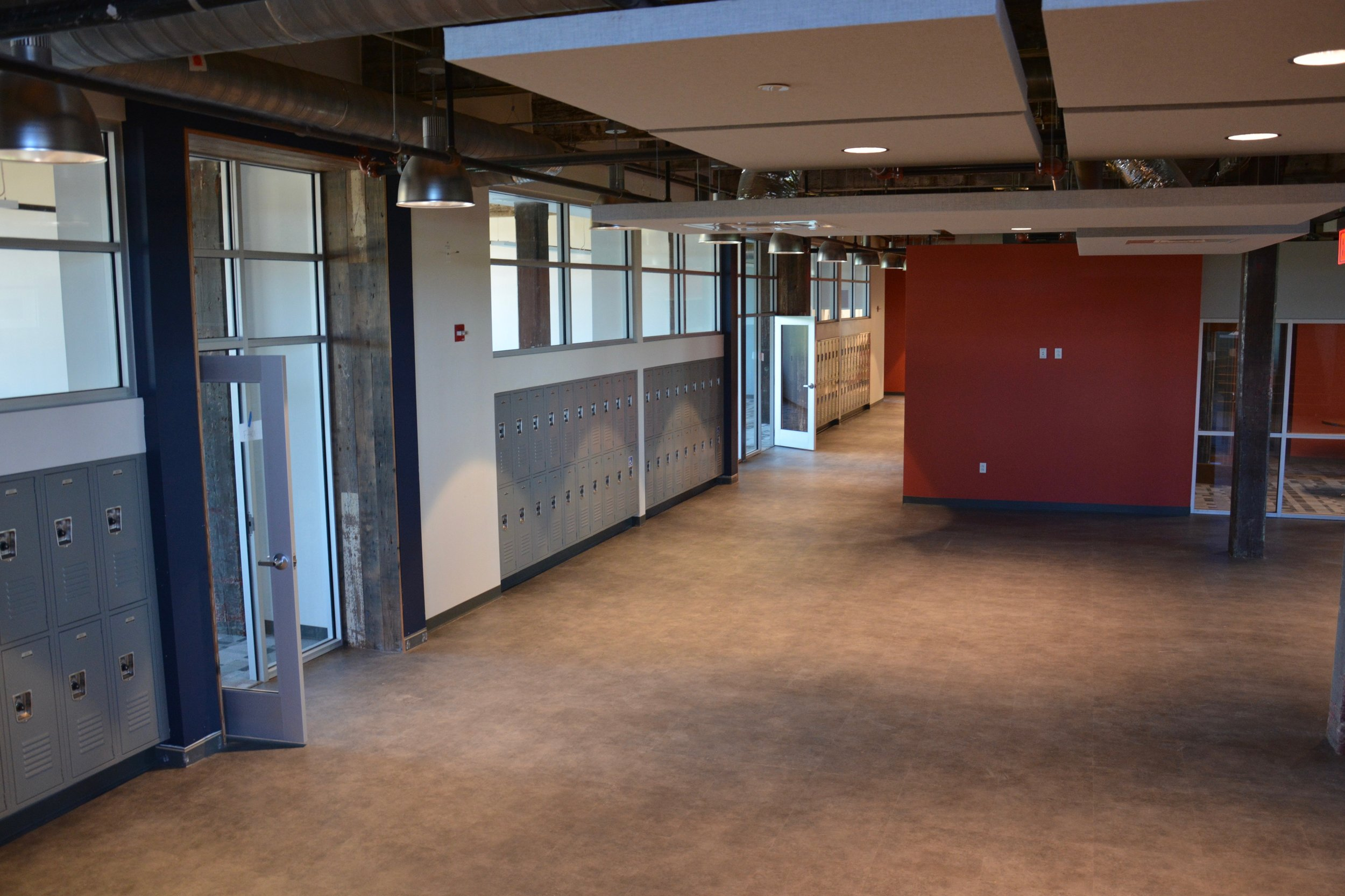 Innovation collaborative space that expands from the Engineering Lab.