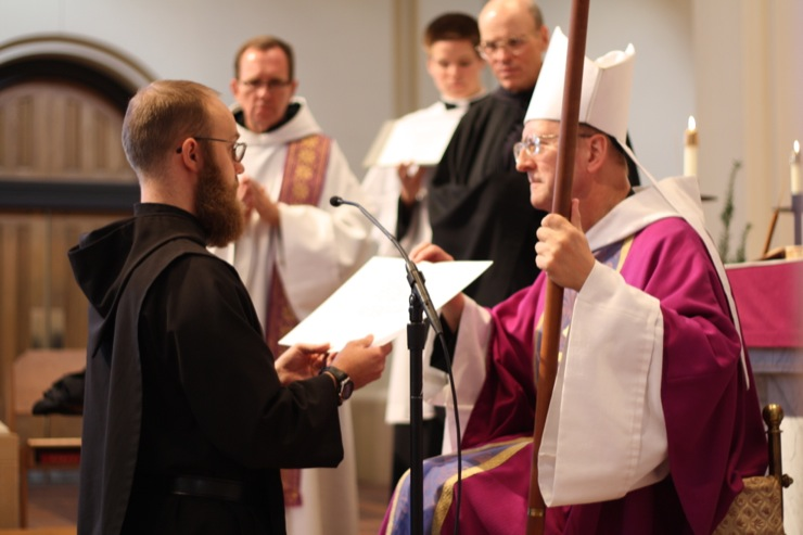 Etienne Huard, OSB (WSU Alum and Solemnly Professed Monk of Conception Abbey)